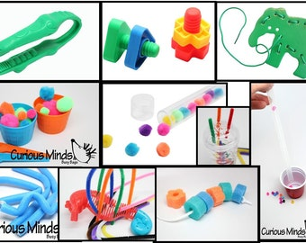 10 Busy Bags for Toddlers -  (fine motor and color practice)