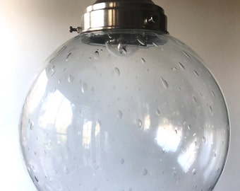 Sale. Gorgeous vintage 60's hanging lamp with ball lampshade with air bells. Now 170 EUR instead of 210 EUR