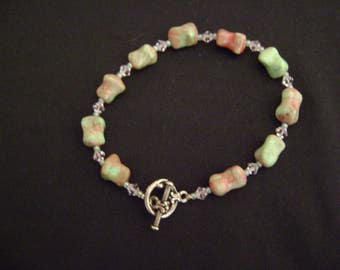Handmade Bracelet Glass Beads and Swarovski's