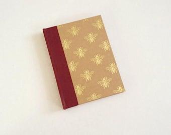 Golden Bees A6 Sketchbook
