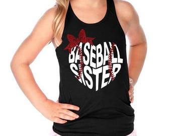 Baseball Sister Tank, Little Sister Baseball Shirt, Siblings Shirt, Baseball Shirt, Sister Shirt. Little Sister Shirt, Big Sister, Baseball