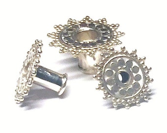 Silver Ear Tunnel Starburst - 7 sizes (JS-T-001)