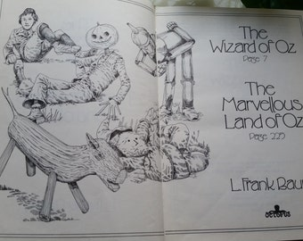 The Wizard of Oz and The Marvellous Land of Oz by L. Frank Baum - Illustrated Hardback Book