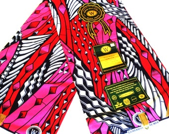 2 Yards High Quality Pink super Star Wax African Fabric Ankara Prints