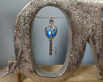 Sterling Silver Key Cage Pendant for Pearl  **CAGE ONLY**