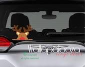 Reindeer decal - Christmas decal - Christmas Decor - Christmas window sticker - car decal - Holiday decal - Holiday decor - Rudolph decal