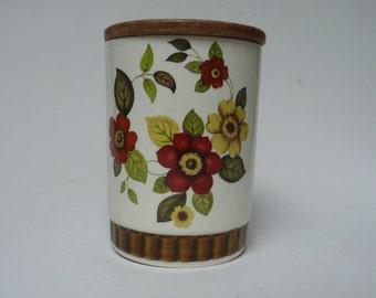 Vintage Retro Royal Worcester Ltd Subsidiary Palissy England Clovelly ceramic kitchen storage jar