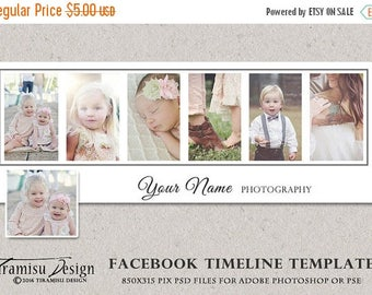 ON SALE Facebook Timeline Cover Photoshop Template, sku fbt16-3
