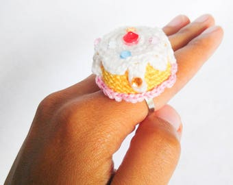 It's My Birthday Crochet Ring