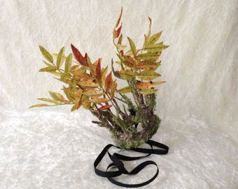 Branches Crown - small, with mos and leaves ( handmade crown in a tree imitation)
