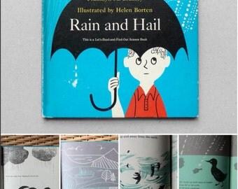 Rain & Hail, children vintage book, (1963) Franklyn M.Branley