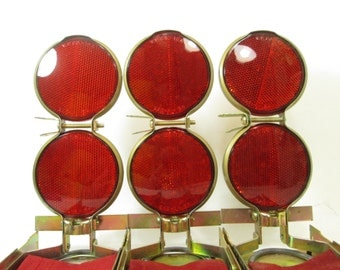 Vintage Road Reflectors, Vari-Flare Set Road Flares, Industrial Decor