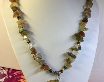 Semi Precious Stone Chunky Necklace.