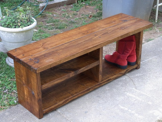 Foyer Boot Bench : Boot cubby rustic bench shoe entryway hallway mudroom