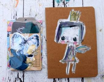 Hand Painted Journal+ mini mixed media kit