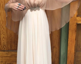 Beautiful 1970's Floor Length Dress/Gown