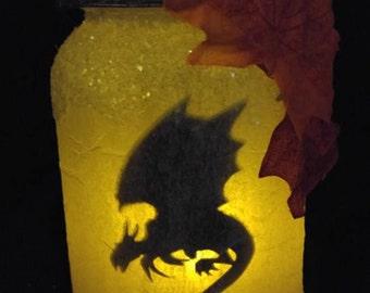 Dragon Silhouette Jar