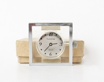 Acrylic Lucerne watch, clear lucite watch, mod fashion accessory, 1970s watch