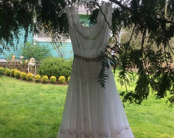 Fairytale Dress Sheer Delight White and Pale Pink Layered Confection Sale!!