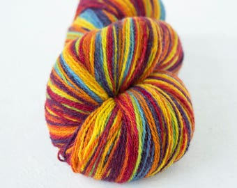Rainbow Gradient  wool, artistic Yarn for knitting, crochet, Rainbow Aade Long