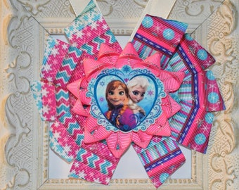 Frozen Elsa and Anna Bow