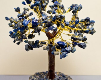 Summer Sale! Lapis Lazuli Crystal Tree 5th and 6th Chakra Healing  8 inches high