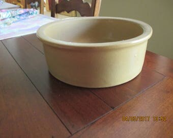 Stoneware Pottery Yellow Ware Bowl