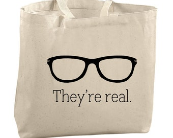 Funny Tote Bag Canvas Nerdy Tote Bag Nerdy Gifts Glasses Tote Bag Canvas Tote Bag Diaper Bag Funny Gifts for Her Funny Christmas Gifts Nerdy