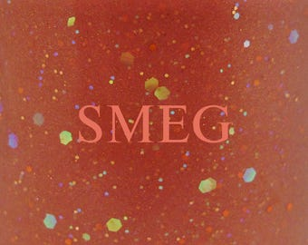 "Smeg glitter nail polish 15 mL (.5 oz) from the ""S(!-l=!"" Collection"