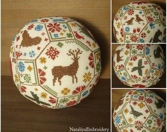 PDF primitive cross stitch quaker ball pattern: Animal Planet