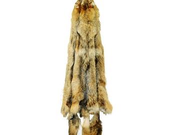 Glacier Wear Semi-Heavy Western Coyote Pelt Hide Tanned Fur cty1060