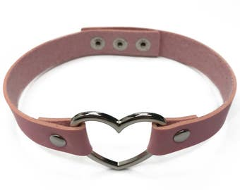 Pink Heart Choker