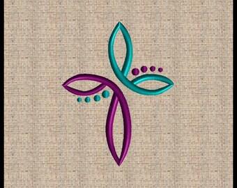 Cross Embroidery Design Scrolls Filigree Cross Embroidery Design Cross machine embroidery design 5x7