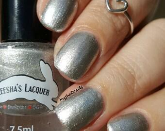 Silver Shimmer Nail Polish, Silver and Gold Shifting Indie Nail Polish - Eerily - Gothic Spring Collection