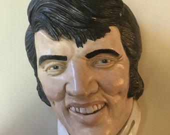 Vintage 70's Elvis Chalkware Head