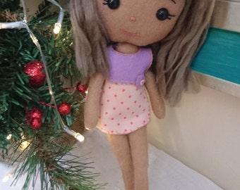 Handmade doll - plush,  felt,  art doll