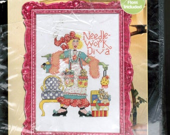 Bucilla Counted Cross Stitch Kit Needlework Diva DIY Kit Free Shipping USA