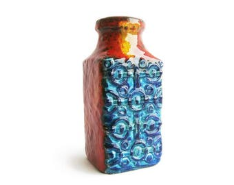 Vintage ceramic vase Bay Keramik 984 20 designed by Bodo Mans, West German Pottery