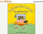 CLEARANCE The Magic Boat - Interactive Book - Magic Windows - Puzzle Book - Vintage Children's Book - Freud - Punch and Judy - Revolving Pic