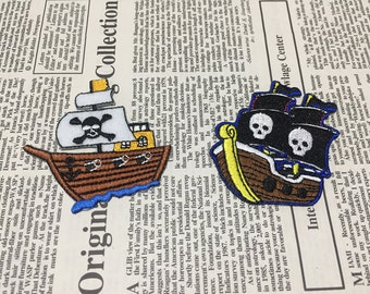 Pirate Ship Iron On Patches