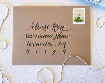 Custom Envelope Addressing, Wedding Envelopes, Mailing Address Calligraphy, Modern Calligraphy, Lettering, Hand Lettered Envelopes, Holiday