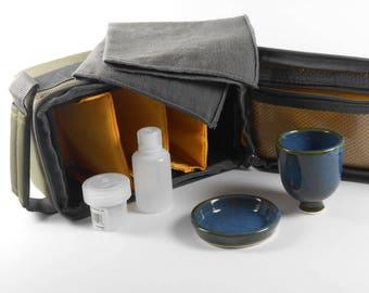 Portable communion set - travel communion set - portable communion kit - chalice and paten set - liturgical ware   W167