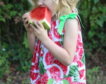 Minnie Mouse birthday party, party dress, watermelon dress, summer dress, pillowcase dress, disney vacation dress, vacation dress
