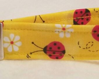 Ladybug wristlet style keyfob