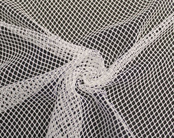 """Off White 58"""" Fish Net Lace Fabric by the Yard - Style 461"""