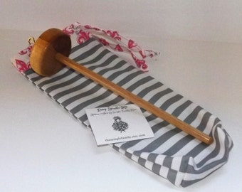 Drop Spindle Starter Kit - Grey Stripe