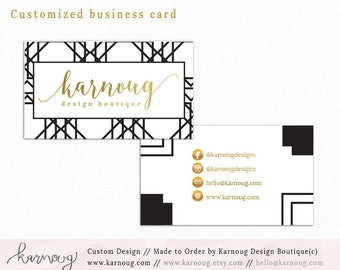 Business Card|Instant Business Cards|Geometric Business Cards|Custom Business Cards|Printable Business Cards|Geometric|Gold|Printable Cards