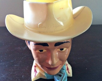 Vintage 1950's Roy Rogers Plastic Cup Rare cowboy collectable