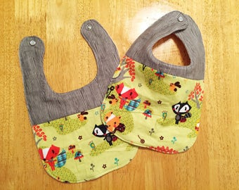 Forest Critters Baby Bib