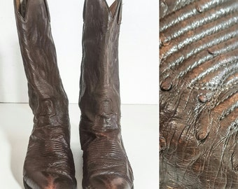 90s Made in the 90s Boots COWBOY BOOTS Vintage Cowboy Boots LEATHER Boots Brown Boots Mens Boots Boots Men Leather Soles Western Boots 70s